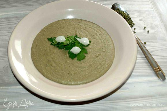 Суп готов. Подавать с зеленью. Приятного аппетита!