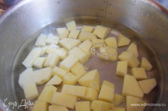 Опустить в кипящую воду и варить около 10 минут.