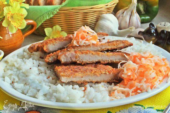 Также предлагаем салатик из капусты и моркови.
