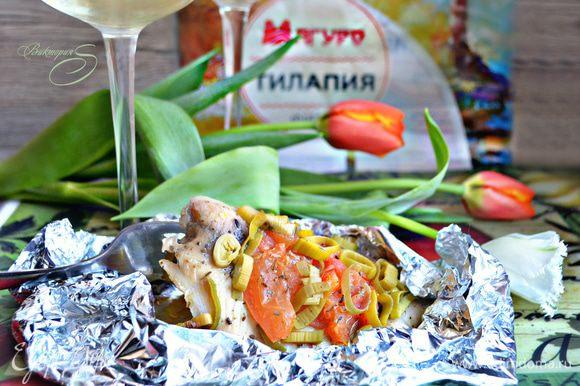 Подавайте рыбу в горячем или холодном виде, получается очень вкусно! Приятного вам аппетита!