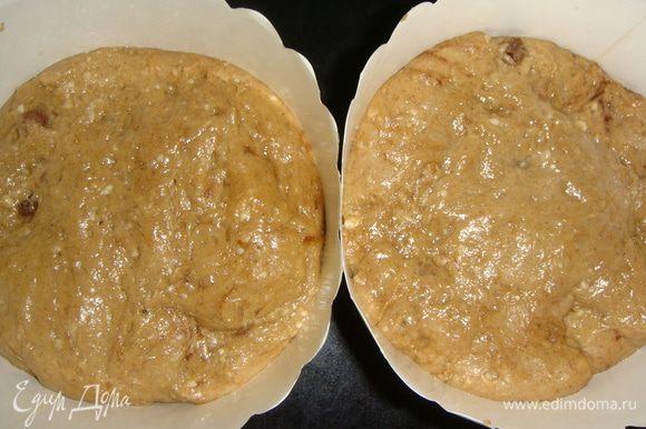 Выкладываем тесто в формы на 1/2 и ставим в тепло еще на 1 час.