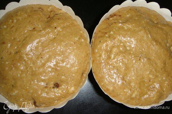 Тесто увеличилось в объеме. Выпекаем куличи в разогретой до 180°С духовке 30-40 минут.