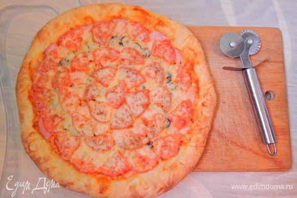 Вот такая румяная пицца получилась.