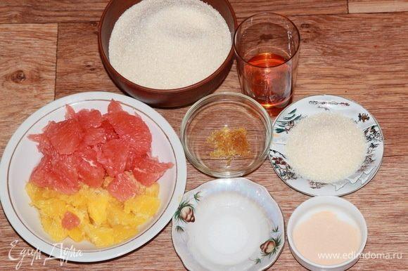 Подготовим все необходимые ингредиенты. Лимонную кислоту разводим в воде.