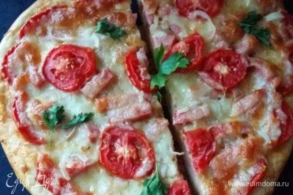У нас пицца была на двоих :)