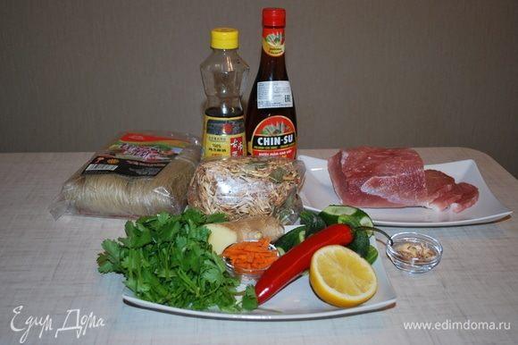 Подготавливаем продукты. Этот суп можно готовить с говядиной, свининой или курицей. Я буду готовить со свининой.