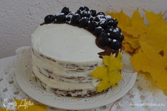 Далее украсить торт по желанию!