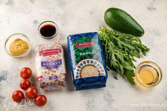 Ингредиенты, которые нам понадобятся для приготовления салата.