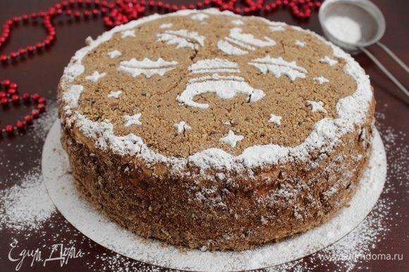 Собрать торт, украсить по своему желанию. Дать торту настояться пару часов.