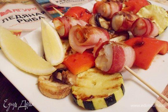 Рыба с креветками по-шанхайски готова. Приятного аппетита! Угощайтесь!