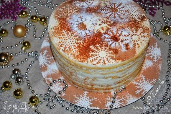 Торт получается очень нежным и вкусным, за счет нежного теста, буквально тает во рту. Приятного аппетита.