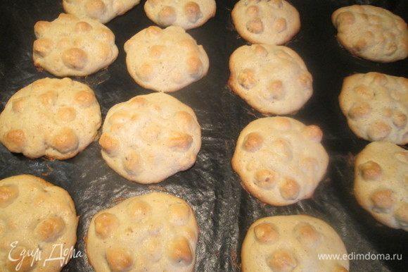 Формируем печенье, толщиной 1 см и выпекаем в духовке, нагретой до 180°С 10-15 минут.