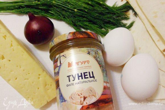 Основные ингредиенты для салата «Мимоза».
