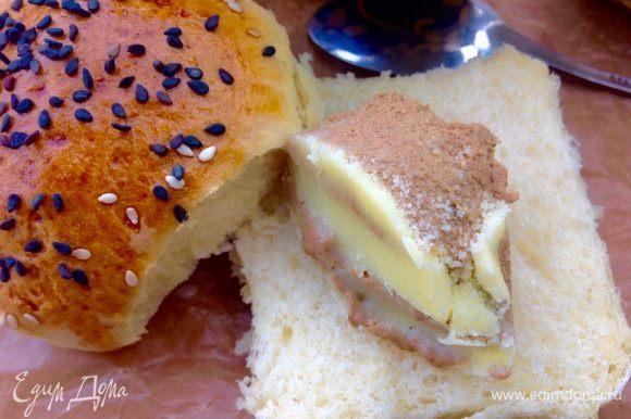 Домашние булочки с домашним паштетом — это такой замечательный завтрак :)