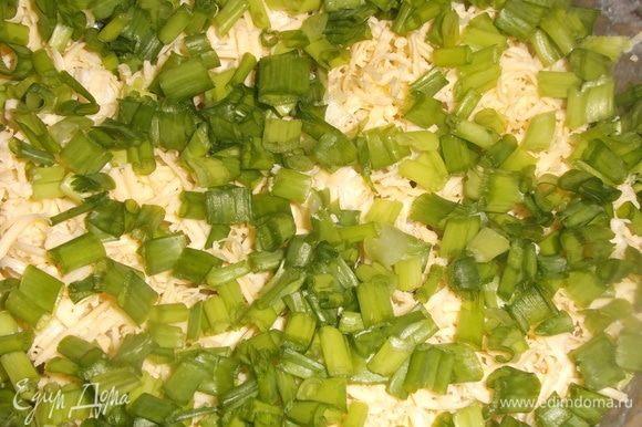 Украсить порезанным зеленым луком.