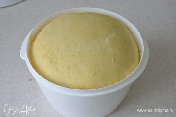 Через час тесто увеличится в объеме в 1,5–2 раза.
