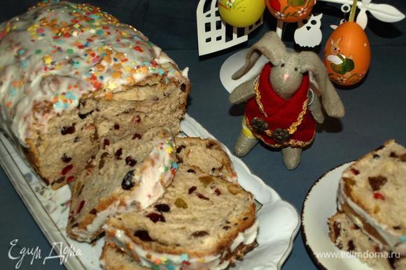 В прошлом году я готовила «Чайный хлеб» вместо куличей!