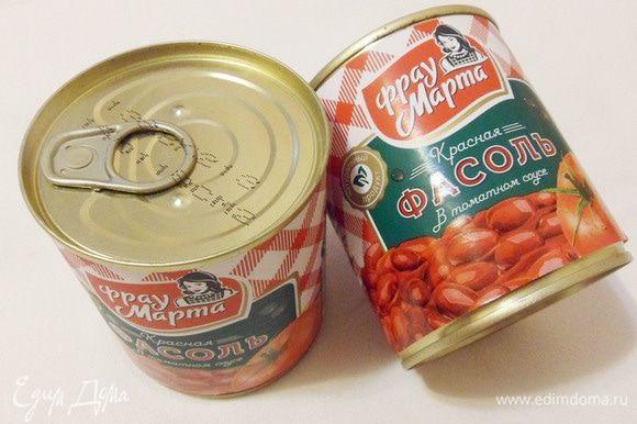 Основной ингредиент для начинки голубцов — консервированная красная фасоль в томатном соусе ТМ «Фрау Марта».
