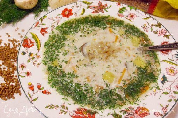 Такой легкий суп будет хорош в летний период.