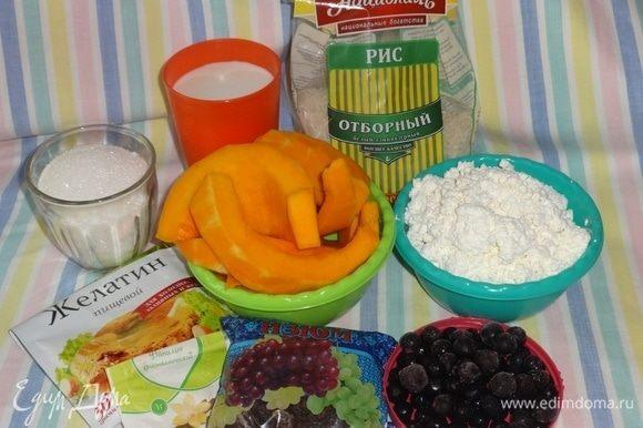 Подготовить все необходимые продукты для приготовления десерта.