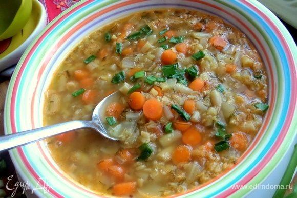Пробуем ароматный вкусный суп.