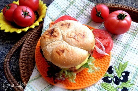 Угощайтесь, любители гамбургеров!