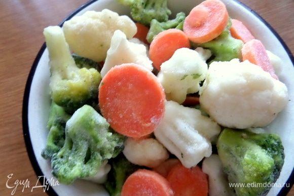 Овощи выгодно взять на базе, какие хочешь комбинации по 3 кг. Мы выбрали такие. Нужна вот такая миска овощей, не пачка, конечно.