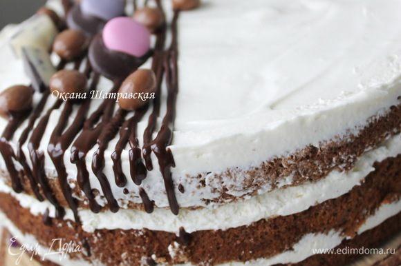 Охладить торт, а затем наслаждаться осенью за окном)