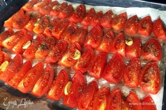 Спустя 35 минут наши помидоры готовы.