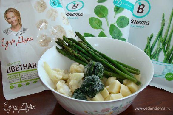 Пока выпекается хлеб, приготовим суп из картофеля и овощей ТМ «Планета витаминов».