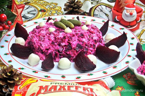 Такой салат украсит безусловно ваш праздничный стол.