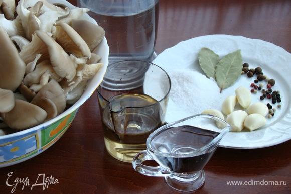 Приготовить необходимые ингредиенты для маринада.
