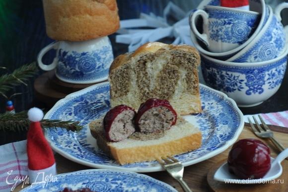 Как приятно с чашечкой горячего чая взять кусочек бриоши и нежный паштет, спрятанный в тонком слое кисло-сладкого мармелада.