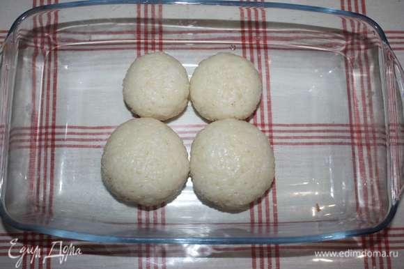 Рисовые шарики готовы.