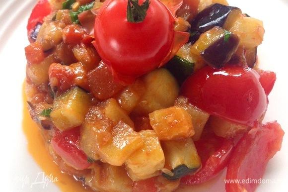 Все готово! Соте можно подавать теплым или охлажденным (если охлажденным, стоит заменить сливочное масло на оливковое). Приятного аппетита!