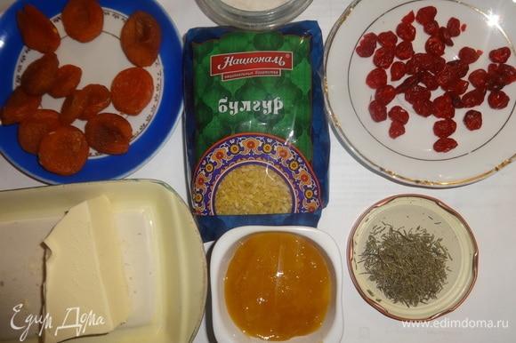 Подготовить продукты, необходимые для приготовления блюда.
