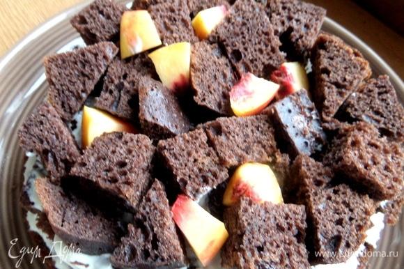 Повторяем слой кубиков с персиком.