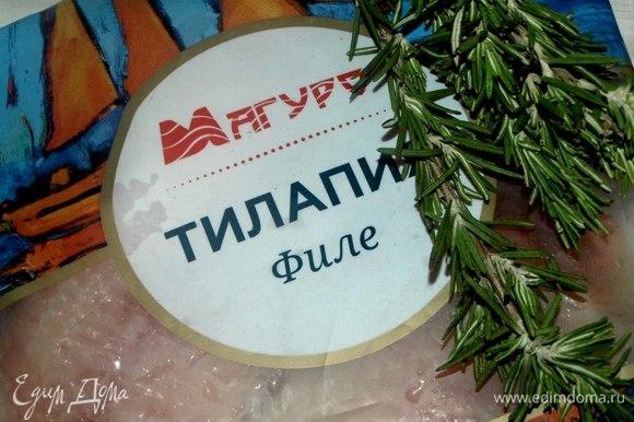 Филе тилапии ТМ «Магуро» разморозить, как указано на пачке производителя.