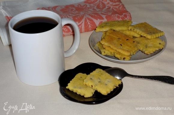 Печенье подать к столу с чаем, бульоном и т. д. Угощайтесь! Приятного аппетита!