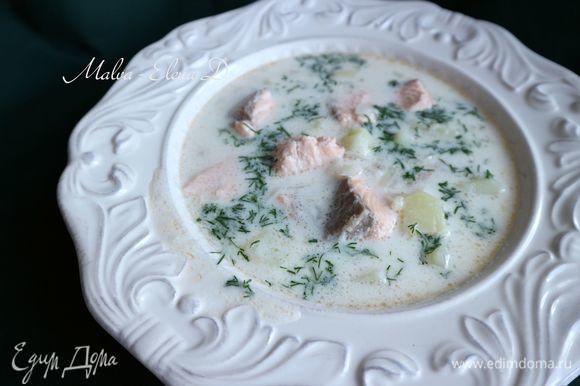 В каждую тарелку при подаче добавить нарезанный мелко укроп. Приятного аппетита!