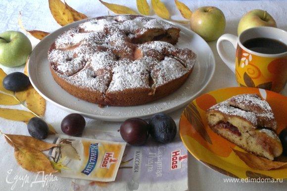 Разрезать пирог на порции и наслаждаться прекрасным вкусом. Угощайтесь! Приятного аппетита!