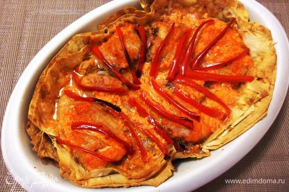 Курица по-армянски готова. Блюдо получилось вкусное, сочное и нежное.
