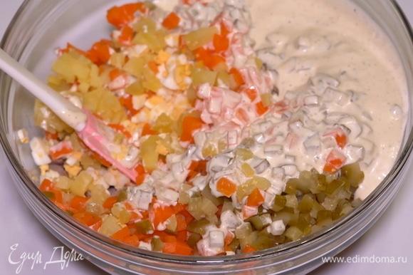 Тщательно все перемешиваю и салатик готов!