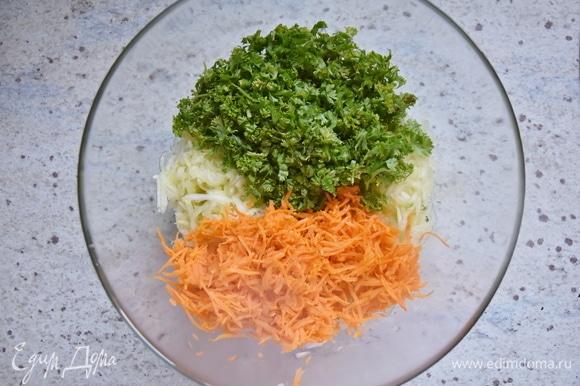 Добавить натертую на терке морковь.