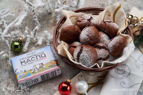 Шоколадные печенья готовы!