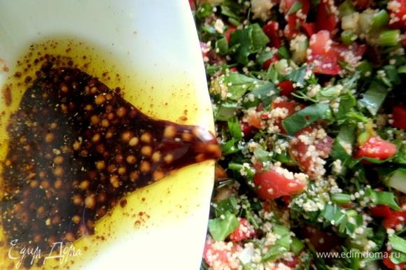 Перелить в салат.