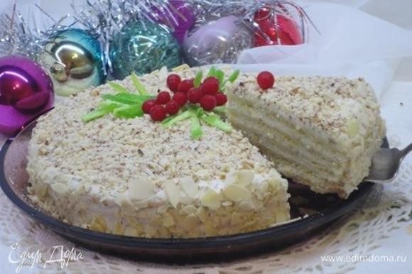 Песочные торты должны обязательно настояться несколько часов, а лучше ночь.