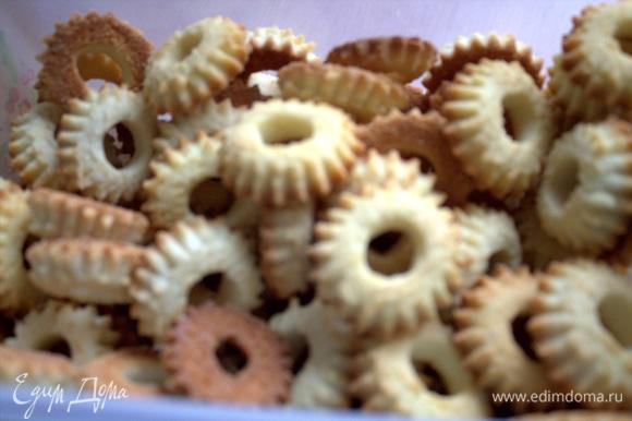 Желательно брать рассыпчатое песочное печенье.