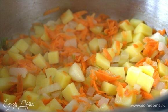 Добавить тертую морковь.