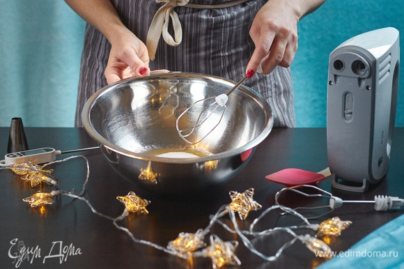 Начнем готовить швейцарскую меренгу. Я ее люблю за то, что она более стабильная. Пропорции для нее простые: сахара всегда в два раза больше, чем белка. И небольшая щепотка лимонной кислоты для более гармоничного вкуса.